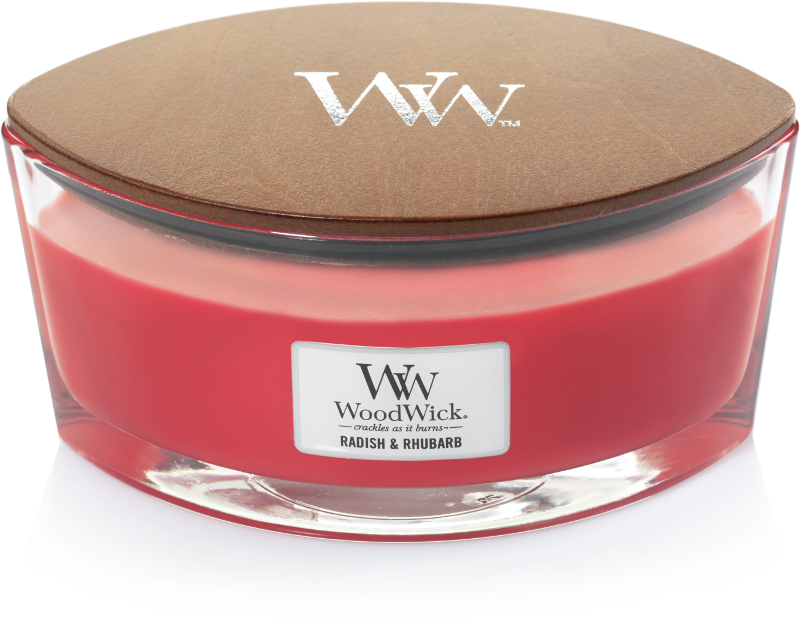 WoodWick Radish & Rhubarb Ellipse Candle