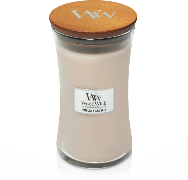 WoodWick Vanilla & Sea Salt Large Candle