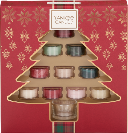 Yankee Candle Alpine Christmas 10 Tea Lights & 1 Holder