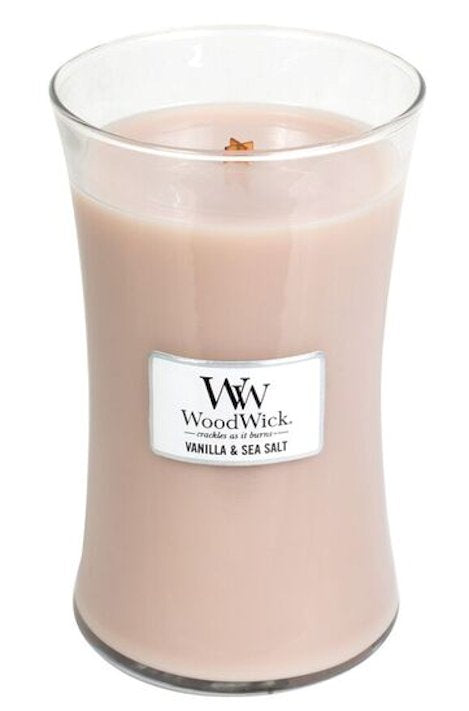 WoodWick Vanilla & Sea Salt Large Geurkaars