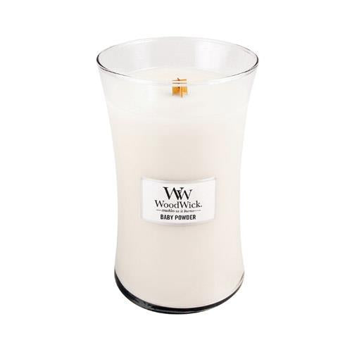 WoodWick Baby Powder Large Geurkaars