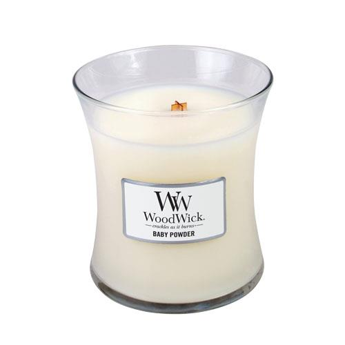 WoodWick Baby Powder Medium Geurkaars