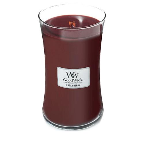 WoodWick Black Cherry Large Geurkaars