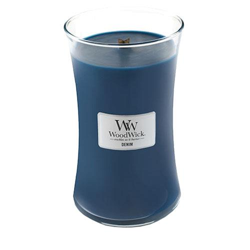 WoodWick Denim Large Geurkaars