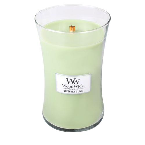 WoodWick Green Tea & Lime Large Geurkaars