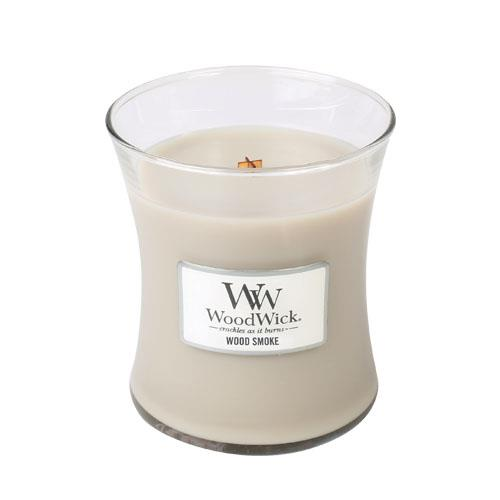 WoodWick Wood Smoke Medium Geurkaars