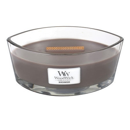 WoodWick Birchwood Ellipse Candle