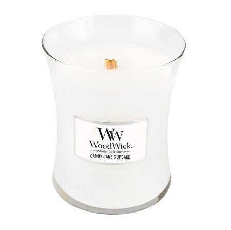 Candy Cane Cupcake Medium WoodWick Candle