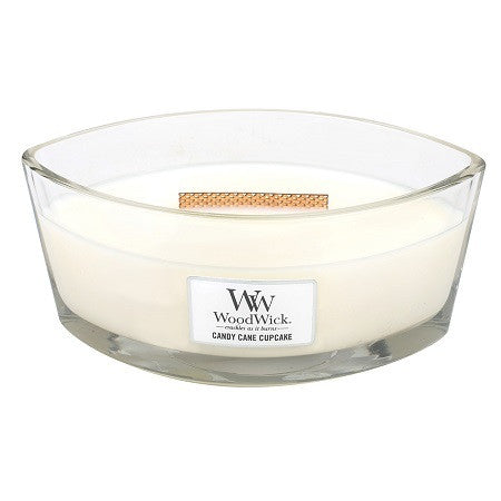 WoodWick Candy Cane Cupcake Ellipse Candle