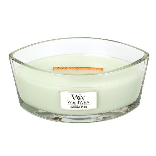 WoodWick Sweet Lime Gelato Ellipse Candle