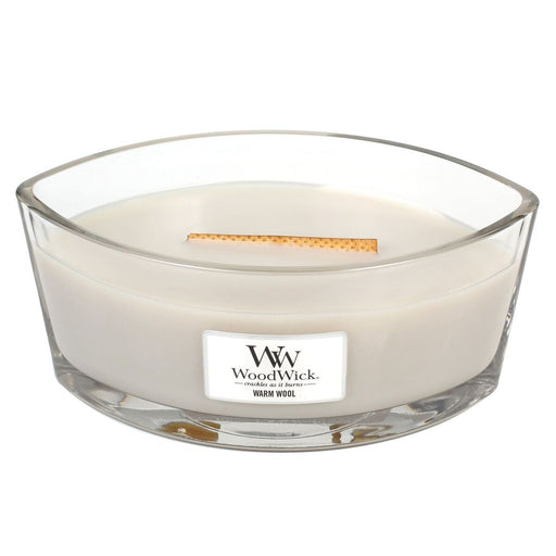 WoodWick Warm Wool Ellipse Candle