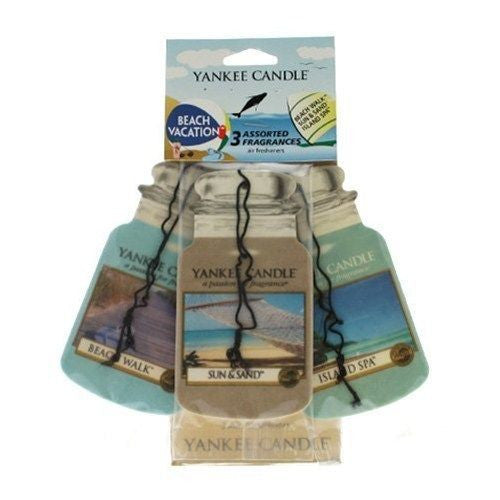 Yankee Candle Beach Vacation Car Jar Classic mix 3 pack Luchtverfrisser