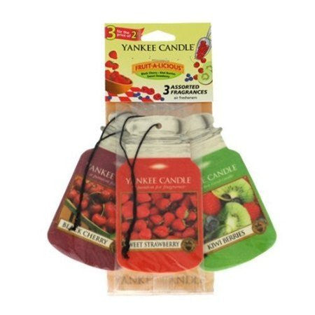 Yankee Candle Fruit a Licious Car Jar Classic mix 3 pack Luchtverfrisser