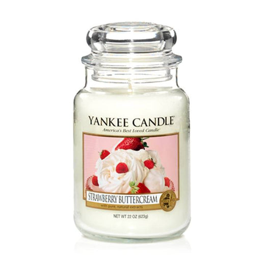 Yankee Candle Strawberry Buttercream Large Jar Geurkaars