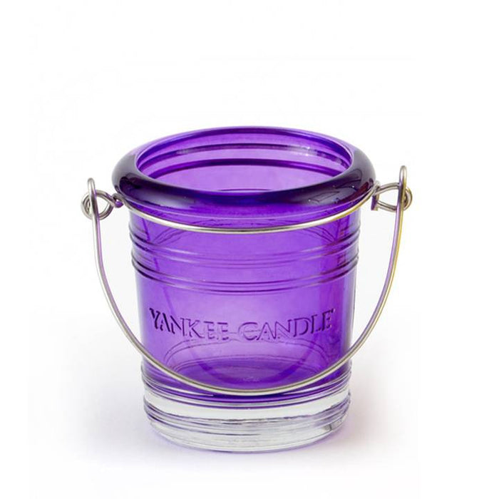 Yankee Candle Votive Holder Bucket Purple