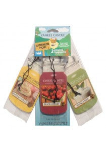 Yankee Candle Afternoon Pic-Nic Car Jar Classic mix 3 pack Luchtverfrisser