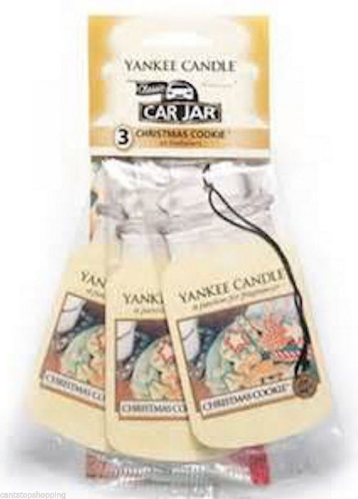 Yankee Candle Christmas Cookie Car Jar Classic 3 pack Luchtverfrisser