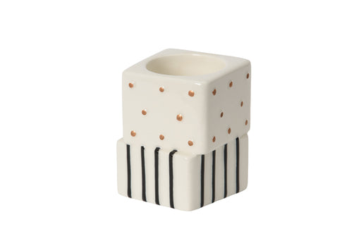 Yankee Candle Jackson Frost Tea Light Holder Dots and Stripes