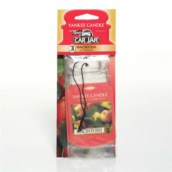 Yankee Candle Macintosh Car Jar Classic 3 pack Luchtverfrisser