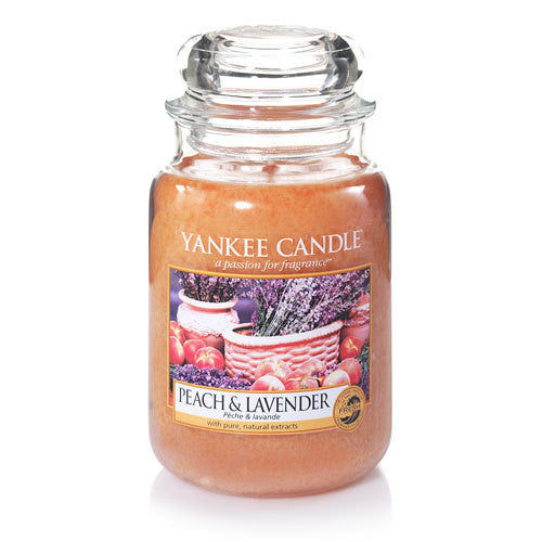 Yankee Candle Peach & Lavender Large Jar Geurkaars Limited Edition