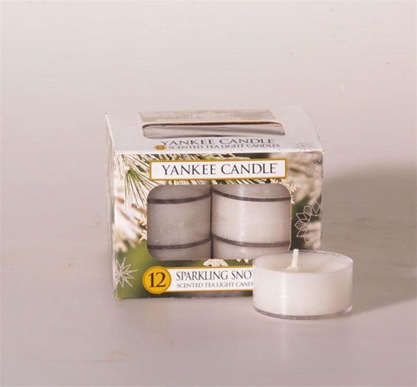 Yankee Candle Sparkling Snow Tea Lights Geurkaarsen