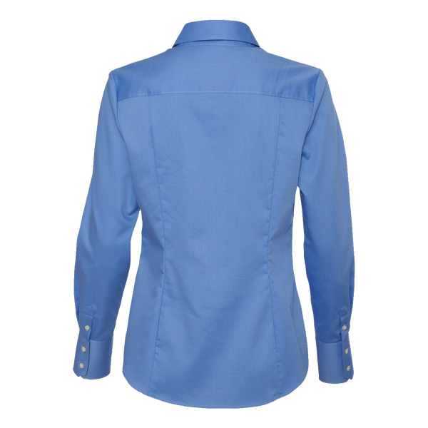 _D1750W  Ladies Non-Iron Dobby Pindot Shirt*