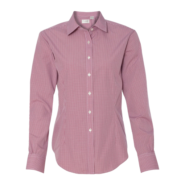 D1206W Ladies Easy Care Gingham Check Shirt
