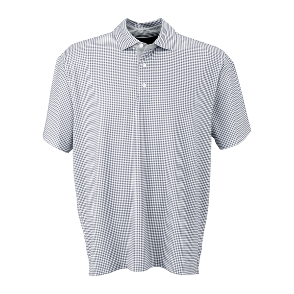 D1970 Mens Mini Gingham Polo