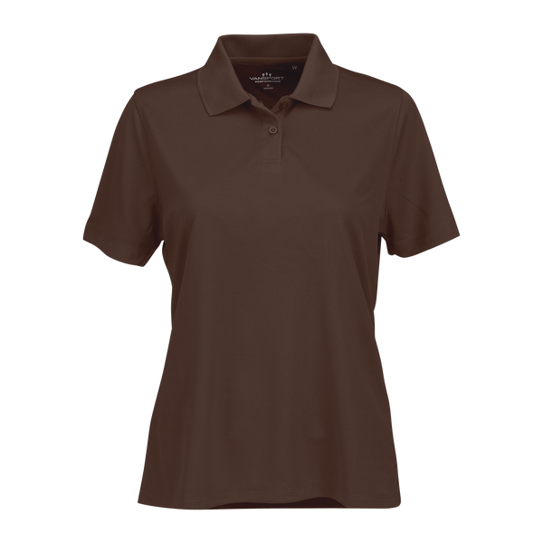 D1832W Ladies Omega Solid Mesh Tech Polo