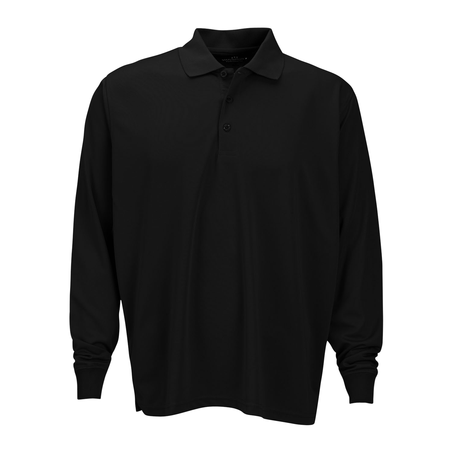 D1833MT Mens Tall Omega Long Sleeve Solid Mesh Tech Polo