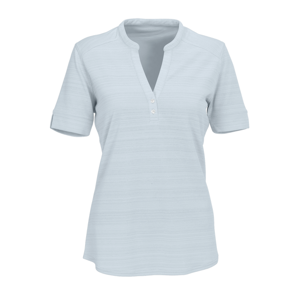 D1835W Ladies Strata Textured Henley