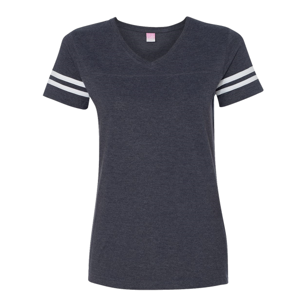 D1850W Ladies Fine Jersey Football T-Shirt