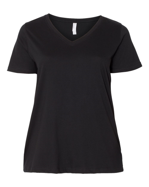 D1756 Ladies Curvy Collection V-Neck Tee