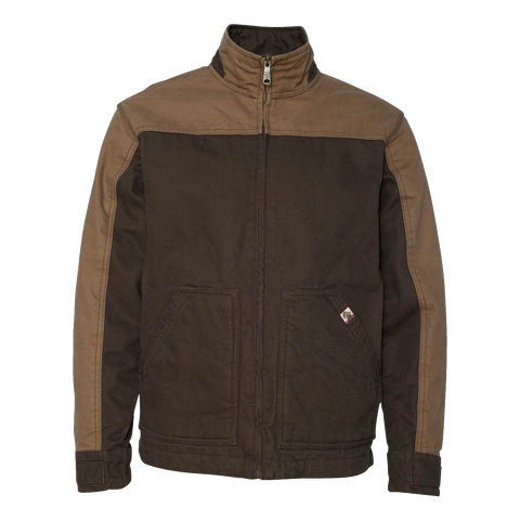 D1540 Mens Horizon Two-Tone Canvas Coat