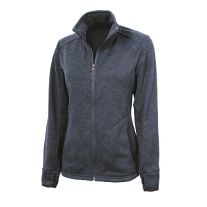 D2003W Ladies Heathered Fleece Jacket