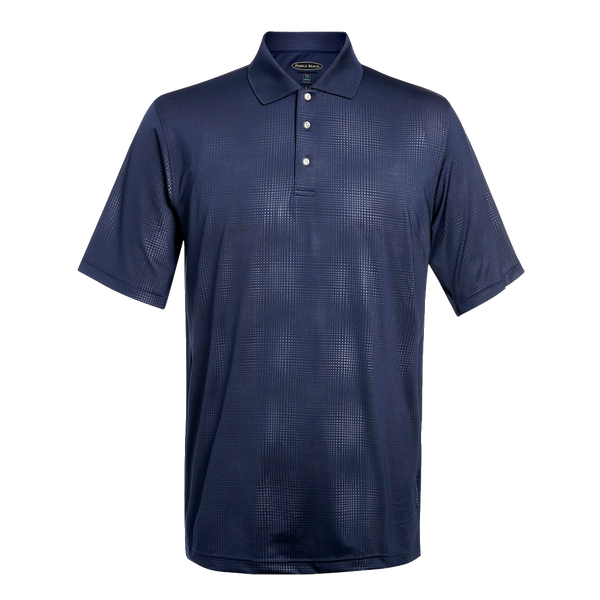 D1868 Mens Embossed Jersey Polo