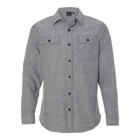 D1202M Mens Solid Long Sleeve Flannel Shirt