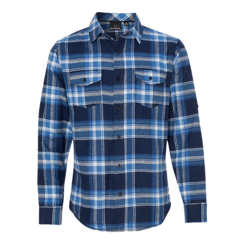 D1201M Mens Yarn-Dyed Long Sleeve Flannel Shirt