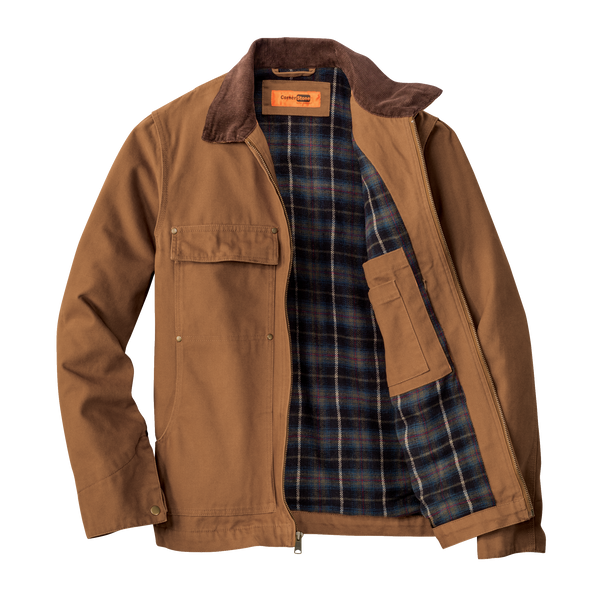 D1821M Mens Washed Duck Cloth Chore Coat