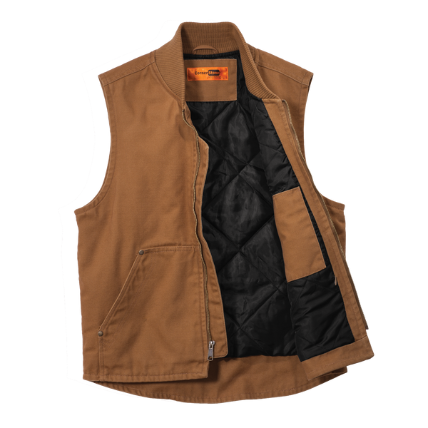 D1822M  Mens Washed Duck Cloth Vest