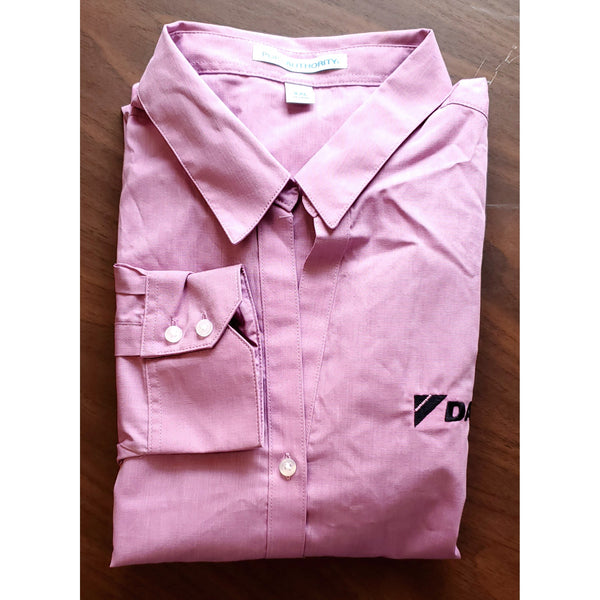 _D1409W Ladies Crosshatch Easy Care Shirt*