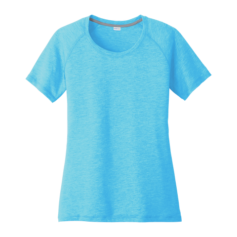 D1857W Ladies' Tri-Blend Wicking Scoop Neck Raglan Tee