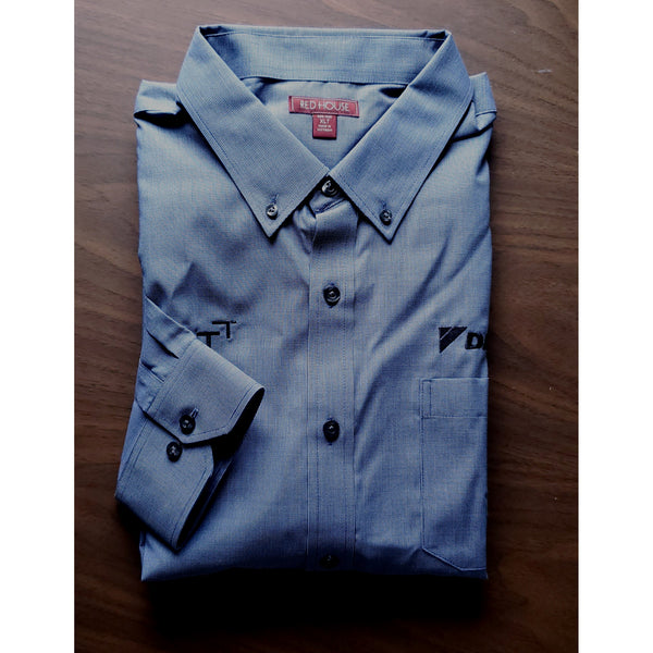 _D1927T Mens Tall Nailhead Non-Iron Shirt*