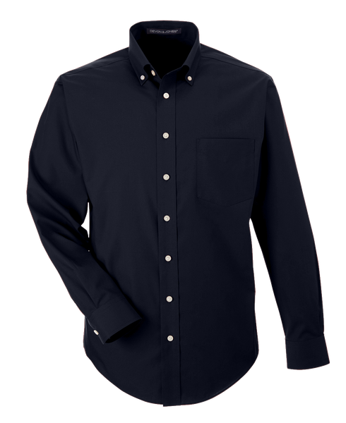 D1934MT Mens Tall Crown Woven Solid Broadcloth Shirt