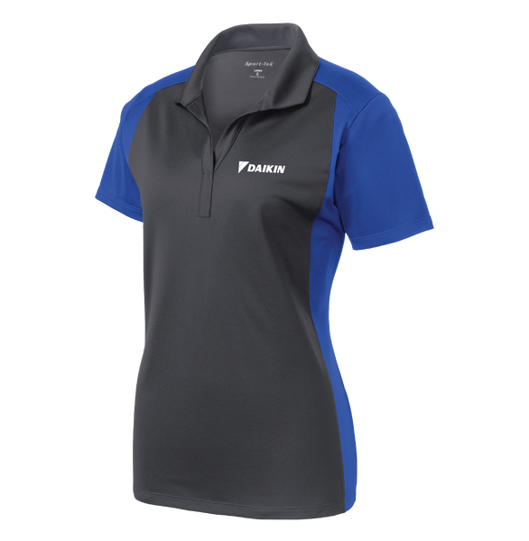 _DU652W Ladies Colorblock Micropique Polo*