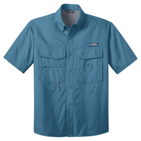 D1519 Mens Short Sleeve Fishing Shirt
