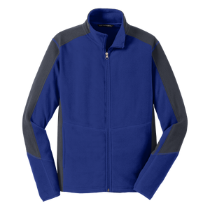 D1558M Mens Colorblock Microfleece Jacket