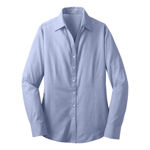 D1409W Ladies Crosshatch Easy Care Shirt