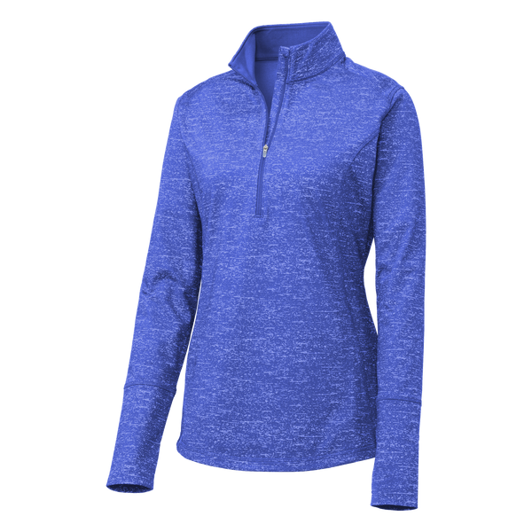 D1909W Ladies Sport-Wick Stretch Reflective Heather 1/2 Zip Pullover