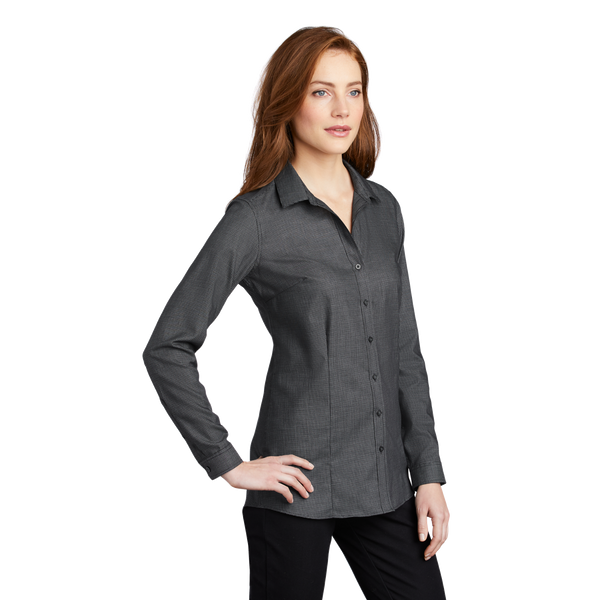 _D2023W Ladies Pincheck Easy Care Shirt*